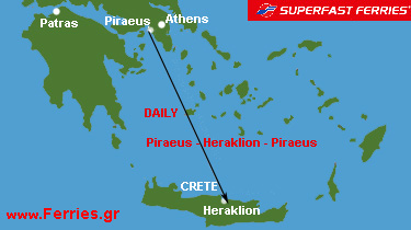 Superfast Ferries - Daily : Piraeus - Heraklion - Piraeus